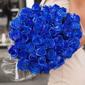 """Букет роз """"Синий"""" 51 роза"""
