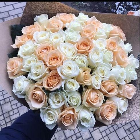 """Букет роз """"Балерина"""" 51 роза"""
