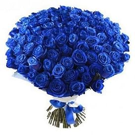 "Букет роз ""Магия синего"" 101 роза"