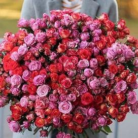 """Букет роз """"Всплеск"""" 101 роза"""