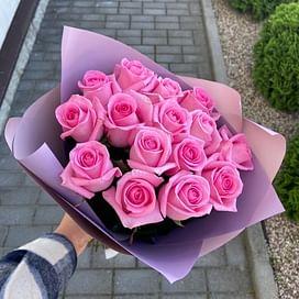 """Букет роз """"Жасмин"""" 15 роз"""