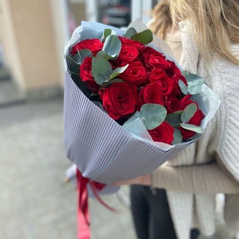 """Букет роз """"Апрель"""" 15 роз"""