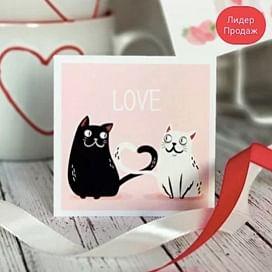 """Открытка """"love cats"""""""
