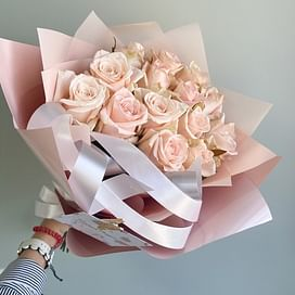 "Букет роз ""Жемчужина"" 15 роз"