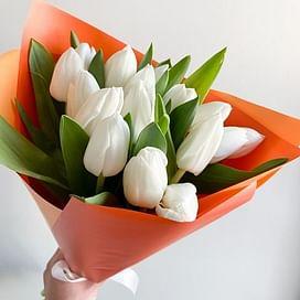"""Букет """"Апельсин"""" 15 тюльпанов"""