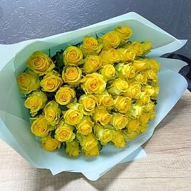 """Букет роз """"Яркое пробуждение"""" 51 роза"""