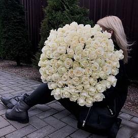 "Букет роз ""Нереальная"" 101 роза"