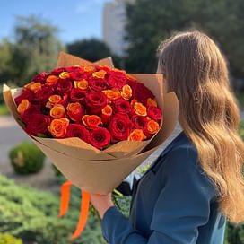 """Букет роз """"Марлен"""" 51 роза"""