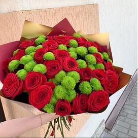 """Букет """"Красная магия"""" 25 роз"""