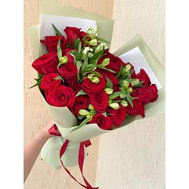 """Букет """"Тигрица"""" 25 роз"""