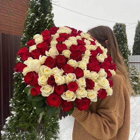 """Букет """"Моя любовь"""" 60см 101 роза"""