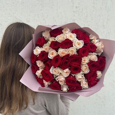 """Букет роз """"Чудное мгновенье"""" 51 роза"""