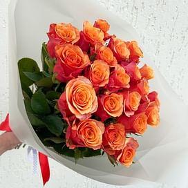 "Букет ""Закат летних дней"" 21 роза"