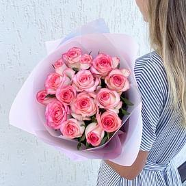 """Букет роз """"Дыхание"""" 15 роз"""