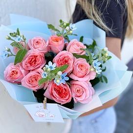 """Букет роз """"Голубые глаза"""" 11 роз"""