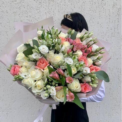 """Букет """"Сердечный"""" 21 роза"""