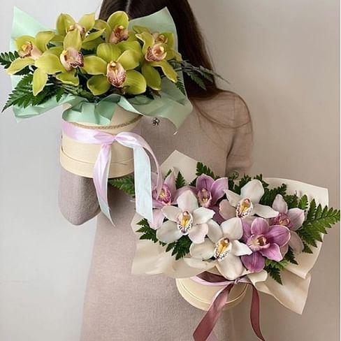 """Коробка с орхидеями """"Чудо света"""""""