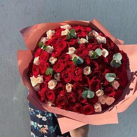 """Букет роз """"Восхищение"""" 101 роза"""