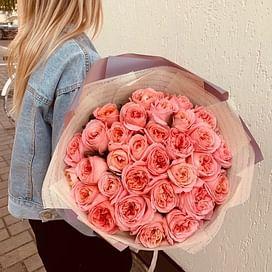 """Букет роз """"Пионовидный"""" 35 роз"""