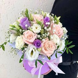 """Коробка с цветами """"Фонтан"""""""