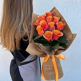 """Букет роз """"Осенний"""" 11 роз"""