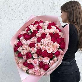 "Букет роз ""Ягода"" 101 роза"