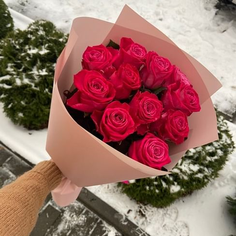 "Букет роз ""Ты моя"" 11 роз"