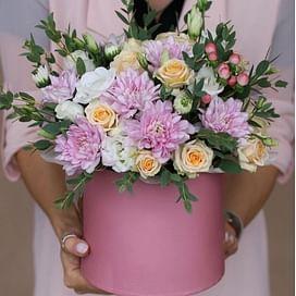 """Коробка с цветами """"Платина"""""""