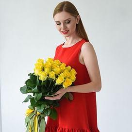 """Букет роз """"Зайчик"""" 21 роза"""