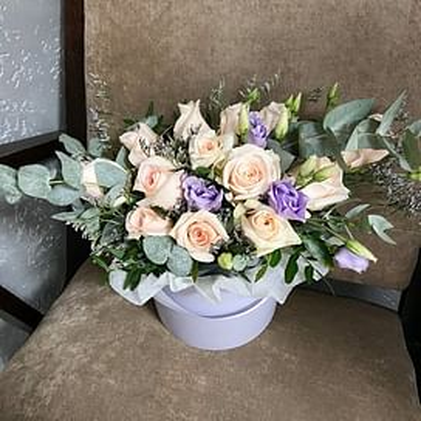 """Цветы в коробке """"Лаванда"""""""