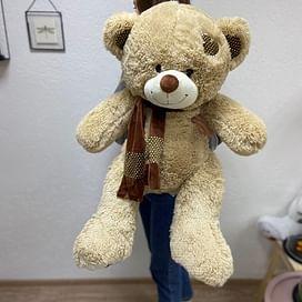 Медведь Мартин с шарфом длина 100см (сидя 60см)