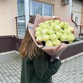 """Букет роз """"Альбина"""", Эквадор 25 роз"""
