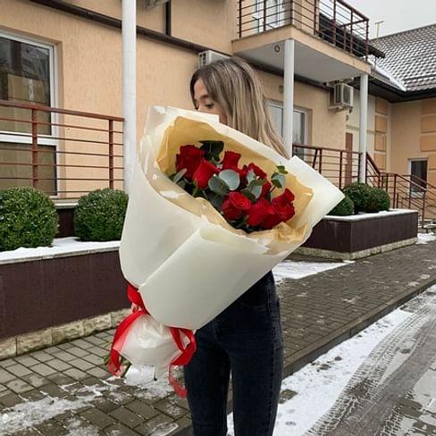 """Букет роз """" Конфета """" 60см 11 роз"""