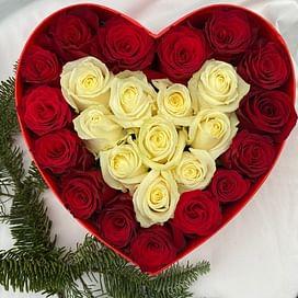 """Композиция """" Сердце красавицы"""" 25 роз"""