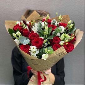 """Букет """" Стильный вечер"""" 15 роз"""
