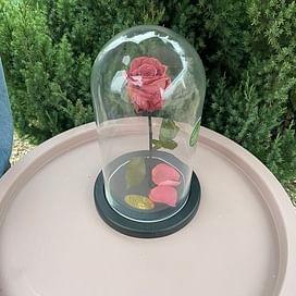 Роза в колбе Premium фламинго