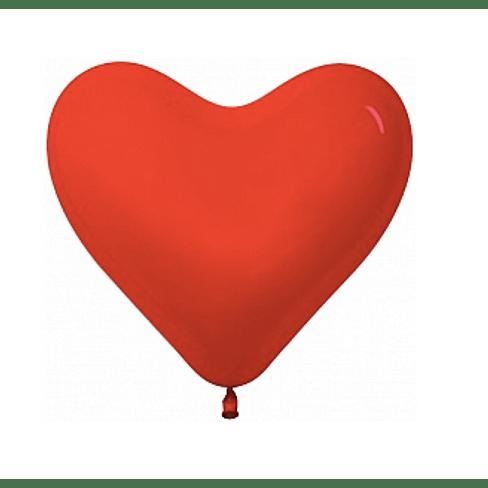 """Латексный шар с гелием """"Красное сердце"""" (12''/30 см)"""