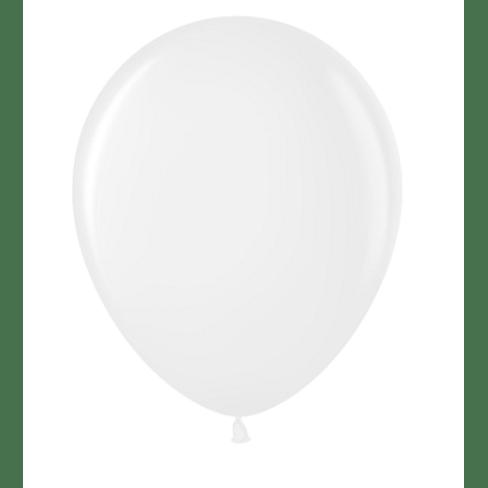 """Латексный шар с гелием """"Белый"""" (12''/30 см)"""