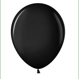 """Латексный шар с гелием """"Черный"""" (12''/30 см)"""