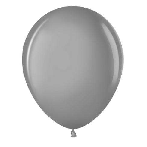 "Латексный шар с гелием ""Серый"" (12''/30 см)"
