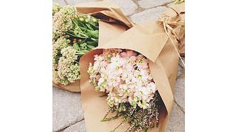 Виды упаковки для цветов
