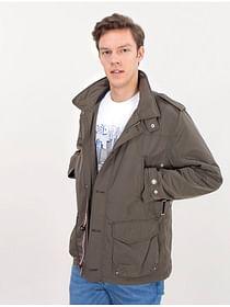 Куртка со скрытым съемным капюшоном Lee Cooper KEN 8052 KHAKI