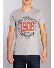 Футболка с принтом Lee Cooper KOLEJ 7201 GREY MELANGE