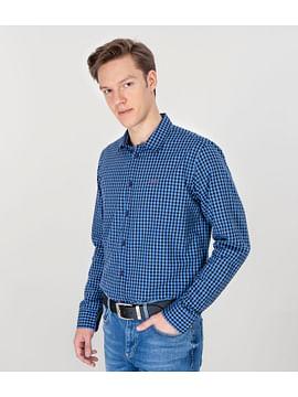 Рубашка Regular в мелкую клетку Lee Cooper REY ZK31 BLUE