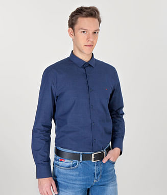 Рубашка Regular с длинным рукавом Lee Cooper TIMMY 7593 BLUE