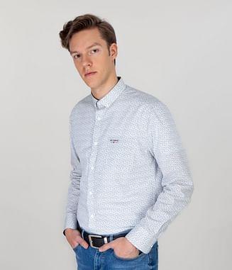 Рубашка Slim с длинным рукавом Lee Cooper TOM 3305 WHITE