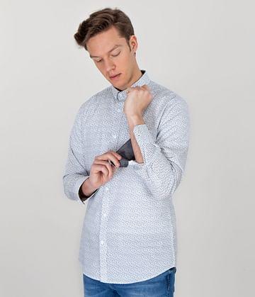 Рубашка Slim с длинными рукавами Lee Cooper TOM 3305 WHITE