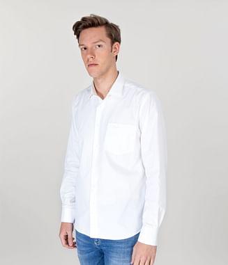 Рубашка Slim с длинным рукавом Lee Cooper WINDSOR GL01 WHITE
