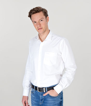 Рубашка Slim с длинными рукавами Lee Cooper WINDSOR GL01 WHITE