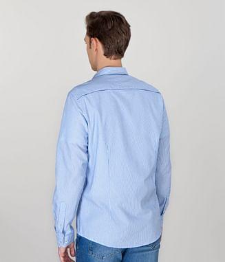 Рубашка Slim с длинным рукавом Lee Cooper MARK 2200 BLUE